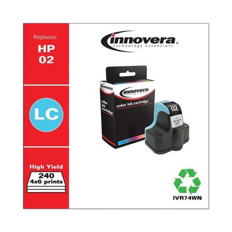 Innovera® Remanufactured C8774WN (02) Ink, Light Cyan