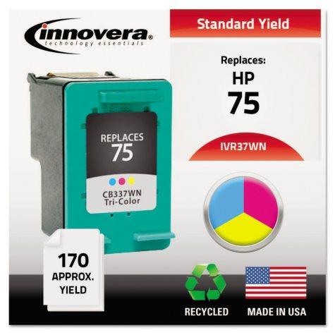 Innovera® Remanufactured CB337WN (75) Ink, Tri-Color