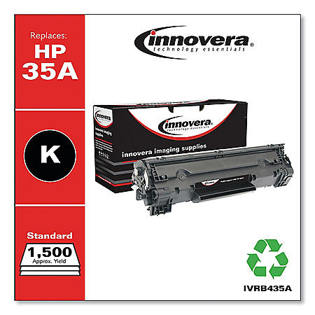Innovera Remanufactured Black Toner Cartridge, Replacement for HP 35A (CB435A), 1,500 Page-Yield