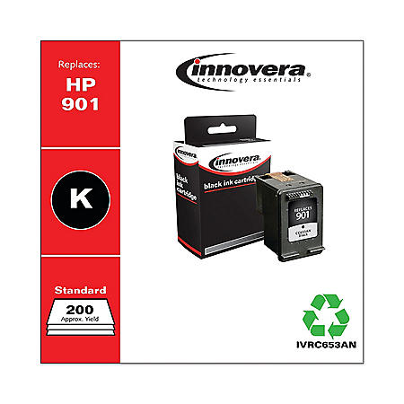 Innovera Remanufactured Black Ink, Replacement For HP 901 (CC653AN), 200 Page Yield