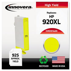 Innovera® Remanufactured CD974AN (920XL) High-Yield Chipped Ink, Yellow