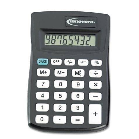 Innovera - 15901 Pocket Calculator - Black