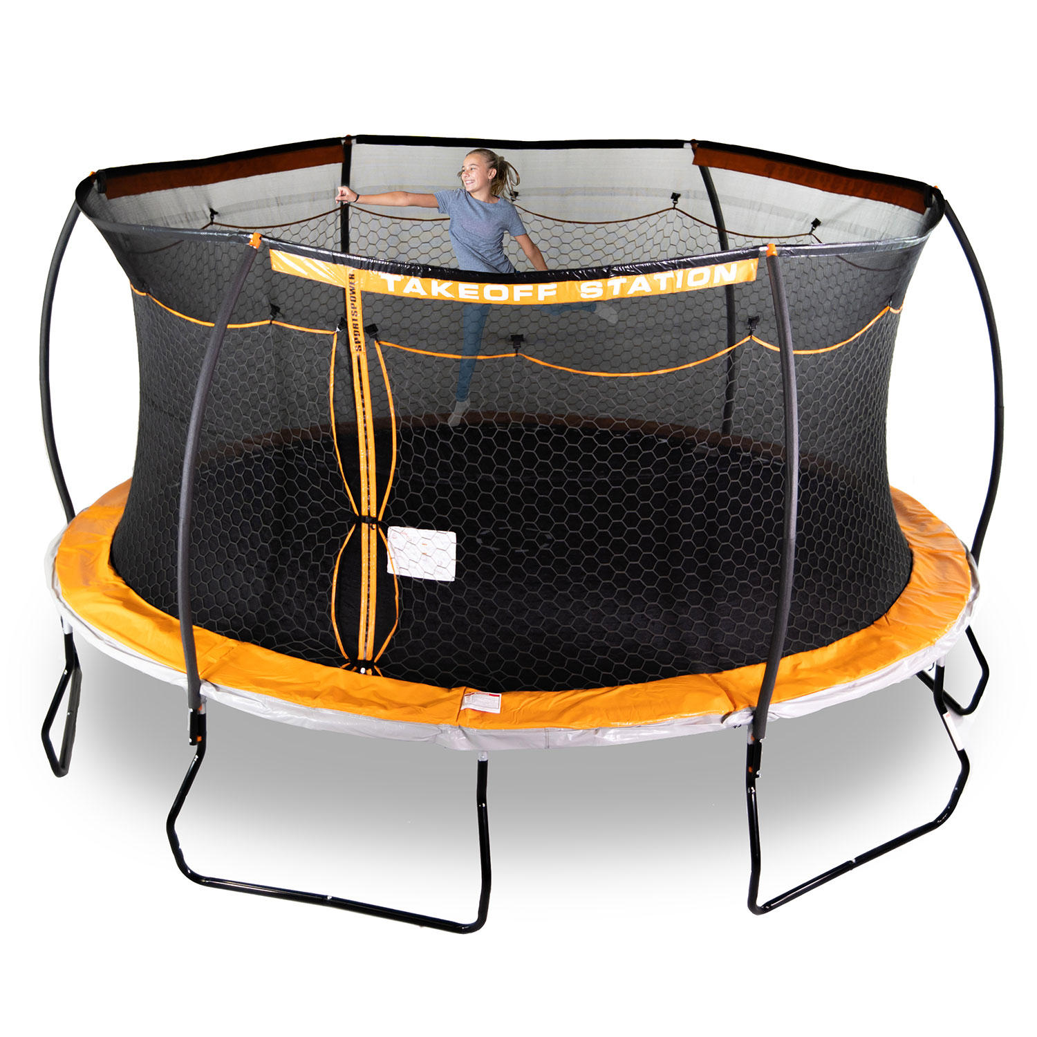 Sportspower 15' Steelflex Trampoline with Electron Shooter