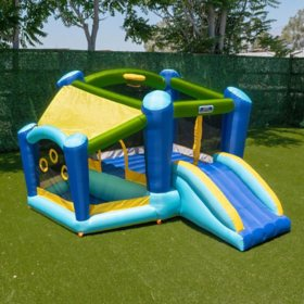 My First Jump n Slide Bounce House with Ball Pit