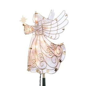Electric Glass Angel Tree Topper