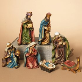 7-Piece Resin Nativity Set