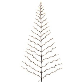 6' Electric Tree Shape Birch Wall Hanging with Timer Feature