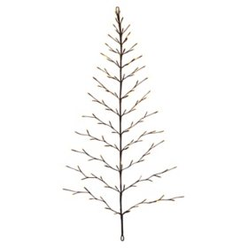 4' Electric Tree Shape Birch Wall Hanging with Timer Feature
