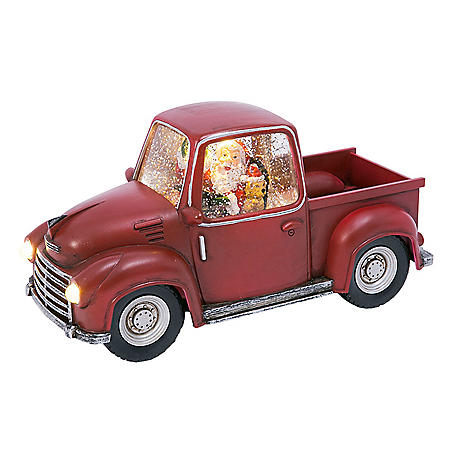 "8.75"" Battery-Operated Water Globe Truck with Timer Feature"