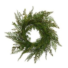 """26"""" Fern Wreath"""