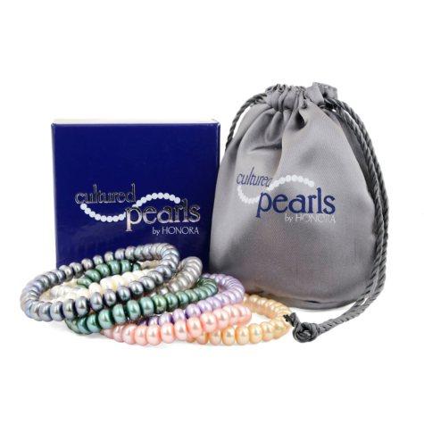 Honora Cultured Pearl Stretch Bracelet Set 7 pc.