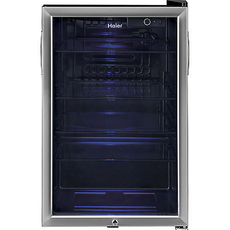 Haier 150-Can Capacity Stainless Steel Beverage Center