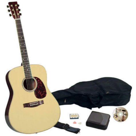 """Professional Quality 41"""" Acoustic Guitar Pack"""