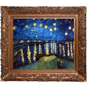 Vincent Van Gogh Starry Night Over the Rhone (gold) Hand Painted Oil Reproduction