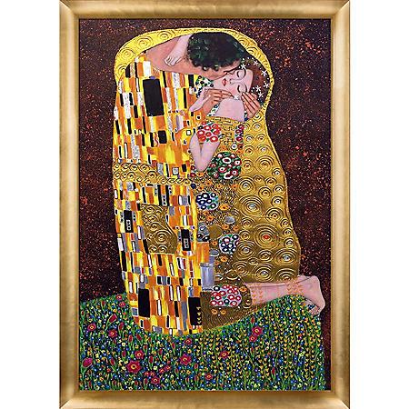 Gustav Klimt The Kiss Full View Hand Painted Oil Reproduction