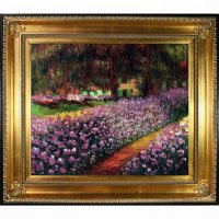 Claude Monet Artist's Garden at Giverny Hand Painted Oil Reproduction