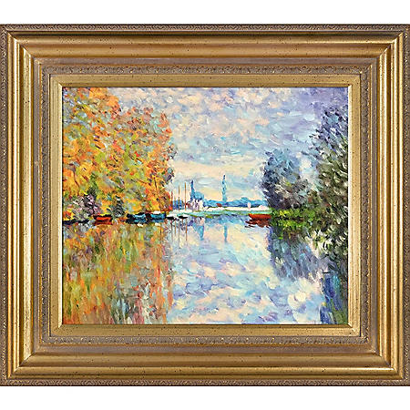 Claude Monet Autumn on the Seine at Argenteuil Hand Painted Oil Reproduction