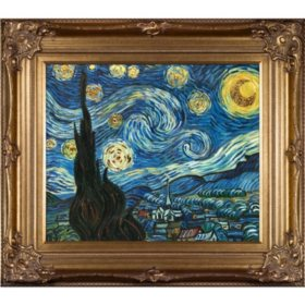 Vincent Van Gogh Starry Night (gold)  Hand Painted Oil Reproduction