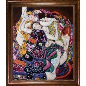 Hand-painted Oil Reproduction of Gustav Klimt's  <i>The Virgin</i>.