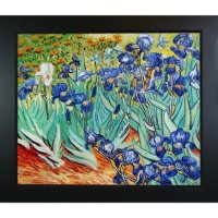 Hand-painted Oil Reproduction of Vincent Van Gogh's Irises.
