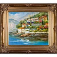 Hand-painted Oil Reproduction of Various Artists' Italy at Dusk.