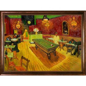 Hand-painted Oil Reproduction of Vincent Van Gogh's  <i>The Night Café</i>.