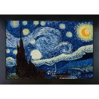 Hand-painted Oil Reproduction of Vincent Van Gogh's <i>Starry Night</i>.