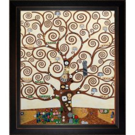 Hand-painted Oil Reproduction of Gustav Klimt's  <i>Tree of Life</i>.