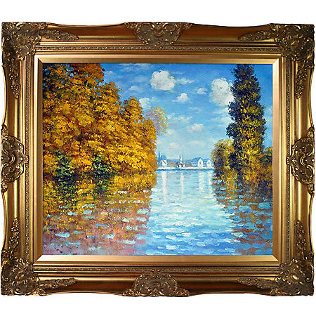 Hand-painted Oil Reproduction of Claude Monet's  Autumn at Argenteuil.