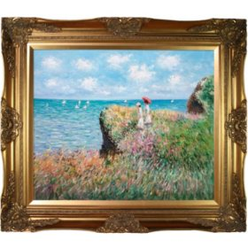 Hand-painted Oil Reproduction of Claude Monet's  <i>Cliff Walk At Pourville</i>..