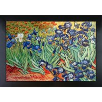 Hand-painted Oil Reproduction of Vincent Van Gogh's <i>Irises</i>.