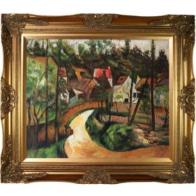 Hand-painted Oil Reproduction of Paul Cezanne's Turn in the Road.