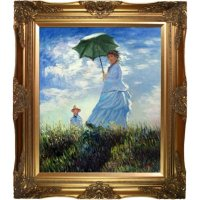 Hand-painted Oil Reproduction of Claude Monet's <i>Madame Monet and Her Son</i>.