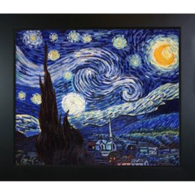 Hand-painted Oil Reproduction of Vincent Van Gogh's Starry Night..