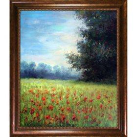 Hand-painted Oil Reproduction of Claude Monet's Champ d'avoine (Oat Field).