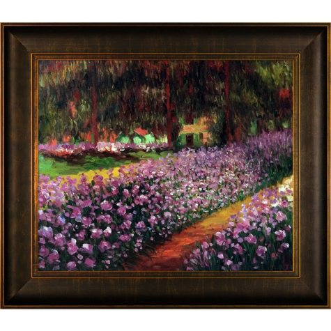Hand-painted Oil Reproduction of Claude Monet's Artist's Garden at Giverny.