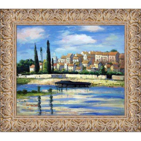 Hand-painted Oil Reproduction of Claude Monet's  Carrieres Saint Dennis.