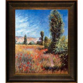 Hand-painted Oil Reproduction of Claude Monet's Ile Saint-Martin.