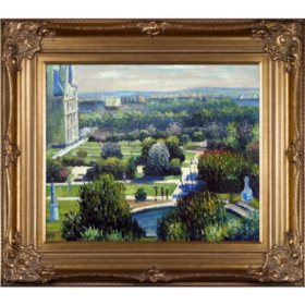 Hand-painted Oil Reproduction of Claude Monet's  <i>Les Tuileries, 1876, Musee Marmottan</i>.