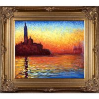 Hand-painted Oil Reproduction of Claude Monet's San Giorgio Maggiore by Twilight.