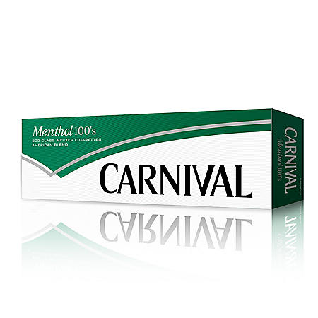 Carnival Green Menthol 100s Soft Pack (20 ct. 10 pk.)
