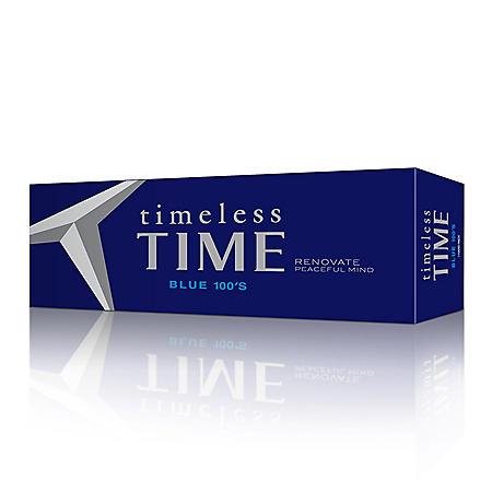 Timeless Time Blue 100s Box (20 ct., 10 pk.)