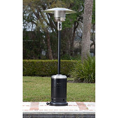 Fire Sense Hammer Tone Black & Stainless Steel Commercial Patio Heater