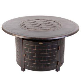 Perissa Woven Round Aluminum LPG Fire Pit