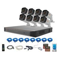 REVO Ultra 16 Channel 4K Smart NVR, 3TB HDD 8x 4 Megapixel (2K) Indoor/Outdoor IR Bullet Cameras