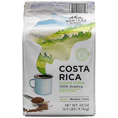 Montana Ridge Medium Dark Roast Ground Coffee, Costa Rica Blend (40 oz.)