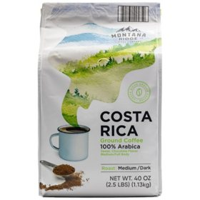 Montana Ridge Medium Dark Roast Ground Coffee, Costa Rica Blend (40 oz.)