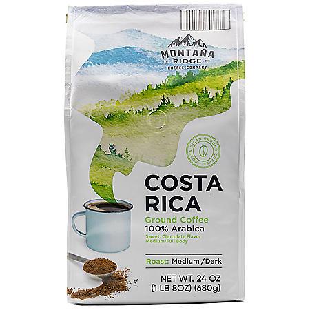Montana Ridge Medium Dark Roast Ground Coffee, Costa Rica Blend (24 oz.)