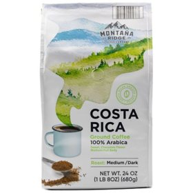 Montana Ridge Medium Dark Roast Ground Coffee, Costa Rica Blend (24 oz.)