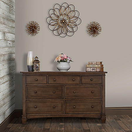 Evolur Santa Fe 7 Drawer Double Dresser (Choose Your Color)